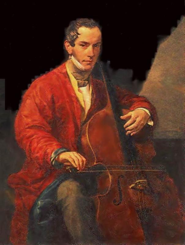 Портрет музыканта М. Ю. Виельгородского.
