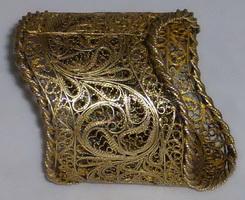 Салфеточное кольцо (серебро, позолота, скань)
