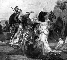 Андромаха и Астианакc (А. Магнан, гравюра)