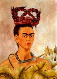 Автопортрет с косами (Фрида Кало)