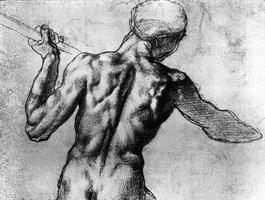 Этюд к картону Битва при Кашине (Микеланджело)