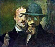 Автопортрет с Францем Ленбахом (Ханс фон Маре )
