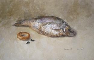 Картина Рыба. Лесохина Любовь