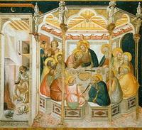 Тайная вечеря (П. Лоренцетти, фреска, 1320 г.)