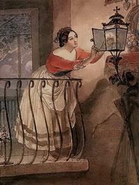 Итальянка, зажигающая лампаду