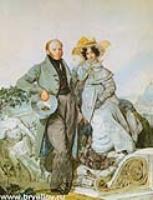 Портрет Григория и Варвары Олениных.1827