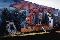 Современное граффити на стене