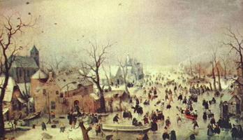 Зимний пейзаж (Х. Аверкамп)