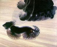Динамизм собаки на поводке (Д. Балла, 1912 г.)