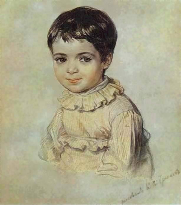 Мария Кикина в детстве.