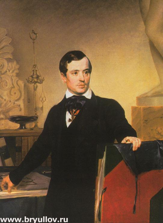 Портрет архитектора и художника Александра Брюллова.