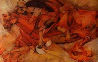 Красный всадник (К. Карра, 1913 г.)
