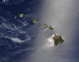 Гавайские острова (снимок из космоса)