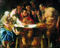 Сатир в гостях у крестьянина (Я. Йорданс)