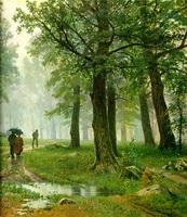 Дождь в дубовом лесу (И.И. Шишкин, 1891 г.)