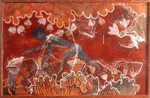 Собиратель шафрана (Кносский дворец, фреска)