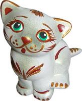 Керамическая статуэтка кошки
