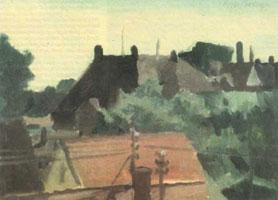 Вид на крыши (Алла прима, 1986 г.)