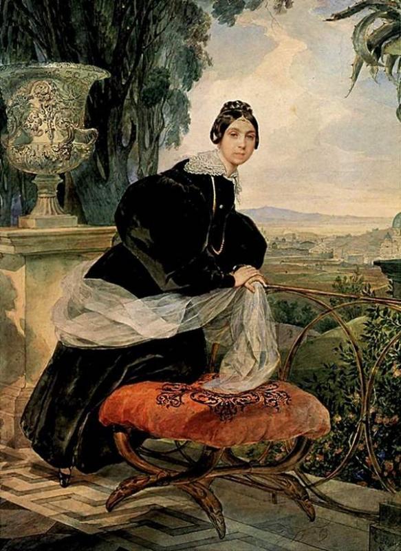 Портрет княгини Е. П. Салтыковой.