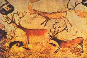 Олени (пещерная живопись)