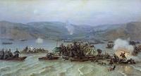 Переправа русской армии через Дунай у Зимницы (Н. Дмитриев-Оренбургский)