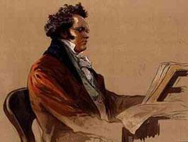 Портрет Ф. Шуберта за фортепиано