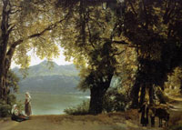 Озеро Альбано в окрестностях Рима (С.Ф. Щедрин, не позднее 1825 г.)