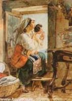Итальянка с ребенком у окна.1831