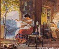 Итальянская семья (в ожидании ребенка).1830