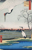 Журавли (Японская гравюра укиё-э)