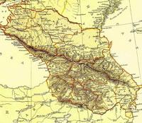 Карта Закавказья и Северного Кавказа (1882 г.)