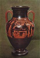 Амфора билингва Геракл и Афина (Андокид)
