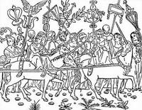 Иллюстрация к книге Сон Полифила (ксилография)