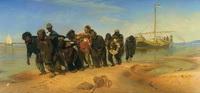 Бурлаки на Волге (И.Е. Репин, 1870-1873 г.)