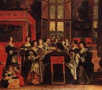 Дамский салон (А. Боссе, XVII век)