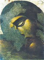 Фрагмент фрески после реставрационной ретуши
