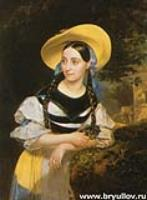 Портрет певицы Фанни. 1834