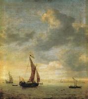 Парусники на море в ветренный день