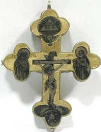 Крест (серебро, гравировка, золочение, чернь)