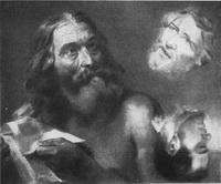 Наброски росписи Исакиевского собора с портретом М. Глинки