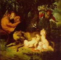 Ромул, Рем и волчица. 1616. Рим. Капитолийский музей