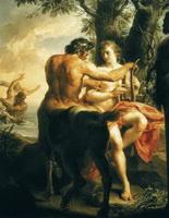 Кентавр Хирон и Ахилл (П. Батони, 1770 г.)
