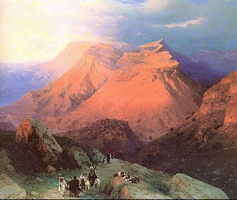 Аул Гуниб в Дагестане (И.К. Айвазовский)