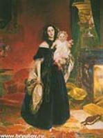 Портрет Марии Бек с дочерью Марией. 1840
