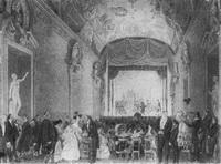 Театральное представление в Риме у Гагариных (рис. Г.Г. Гагарина и Н. Ефремова)