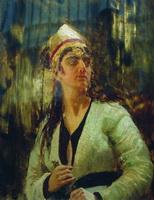 Женщина с кинжалом (И.Е. Репин, 1870-е г.)