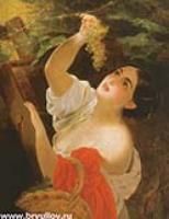Итальянка, снимающая виноград. 1827