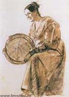 Девушка стамбурином. Около 1832