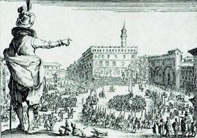 Праздник на площади Синьории во Флоренции (Ж. Калло)