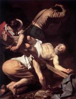 1601. Караваджо. Распятие св. Петра . Масло